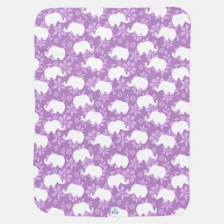 Cobertor De Bebe Cobertura do bebê do elefante cor-de-rosa