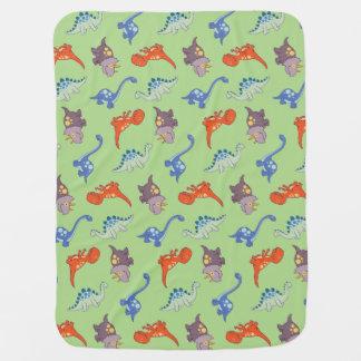 Cobertor De Bebe Cobertura do bebê do impressão do dinossauro
