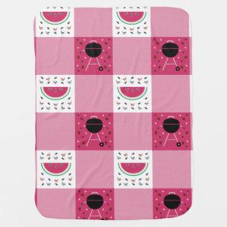 Cobertor De Bebe Cobertura do bebê do piquenique do verão