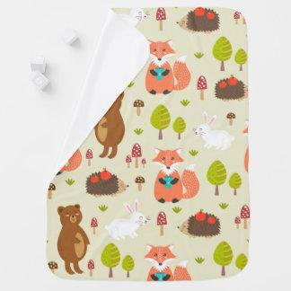 Cobertor De Bebe Cobertura do bebê dos amigos da floresta