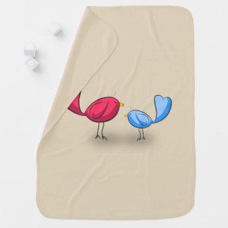 Cobertor De Bebe Cobertura do bebê dos pássaros