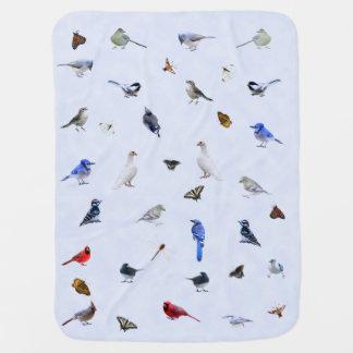 Cobertor De Bebe Cobertura do pássaro e da borboleta: