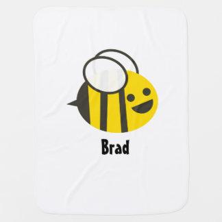 Cobertor De Bebe Cobertura feita sob encomenda da abelha do bebê