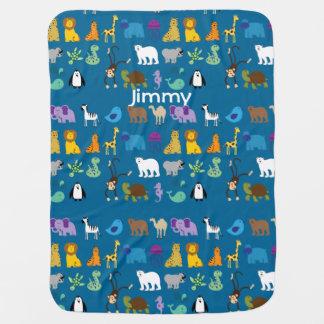 Cobertor De Bebe Cobertura feita sob encomenda do bebê dos animais