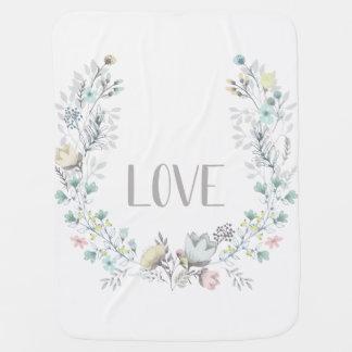Cobertor De Bebe Cobertura floral do bebê do AMOR
