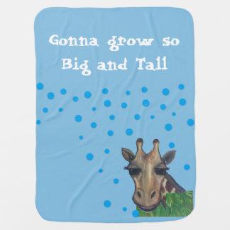 Cobertor De Bebe Cobertura grande e alta do bebê do girafa