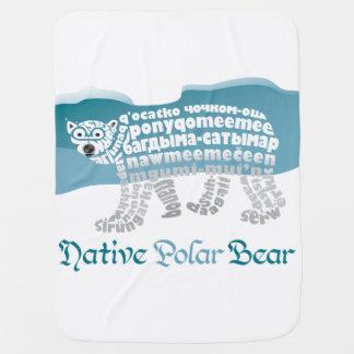 Cobertor De Bebe Cobertura nativa do bebê do urso polar