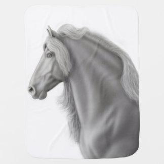 Cobertor De Bebe Cobertura orgulhosa do bebê do cavalo do frisão