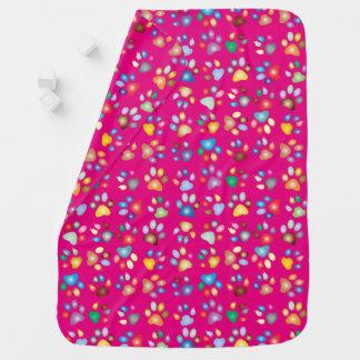 Cobertor De Bebe Cobertura Pastel cor-de-rosa vívida do bebê do
