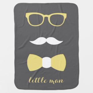 Cobertor De Bebe Cobertura pequena do bebê do homem, amarelo,