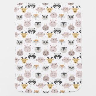 Cobertor De Bebe Cobertura pequena do bebê dos animais