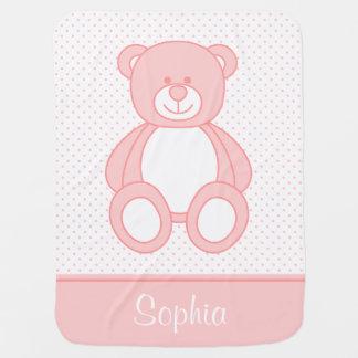Cobertor De Bebe Cobertura personalizada cor-de-rosa do bebê do