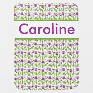 Cobertor De Bebe Cobertura personalizada da íris de Caroline
