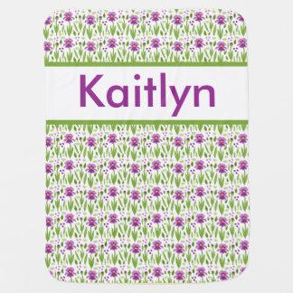 Cobertor De Bebe Cobertura personalizada da íris de Kaitlyn