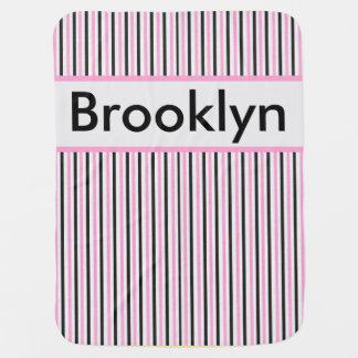 Cobertor De Bebe Cobertura personalizada da listra de Brooklyn