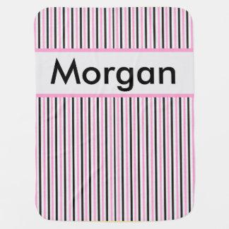 Cobertor De Bebe Cobertura personalizada da listra de Morgan
