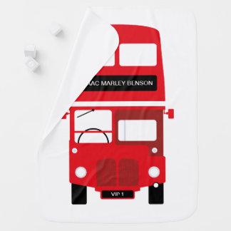 Cobertor De Bebe Cobertura personalizada do bebê de Londres ônibus