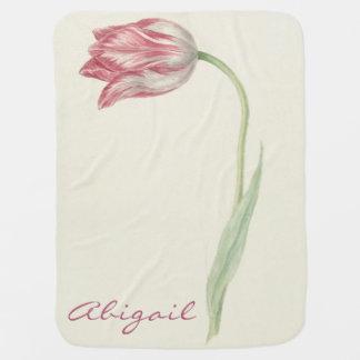Cobertor De Bebe Cobertura personalizada do bebê do vintage tulipa