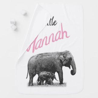 """Cobertor De Bebe Cobertura personalizada """"Hannah pequena """" do bebé"""