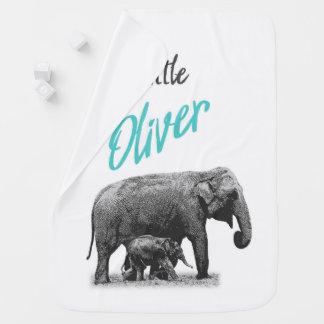 "Cobertor De Bebe Cobertura personalizada ""Oliver pequeno "" do bebé"