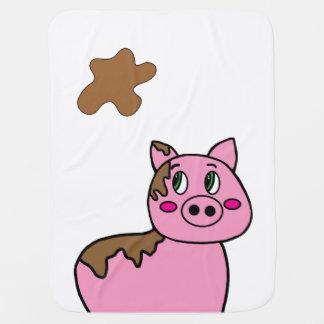 Cobertor De Bebe Cobertura - porco enlameado bonito