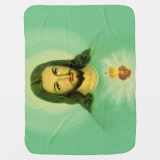 Cobertor De Bebe cobertura sagrado do bebê do coração 29x39