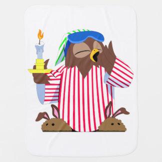 Cobertor De Bebe Coruja sonolento do Natal