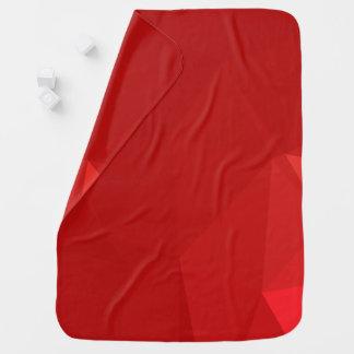 Cobertor De Bebe Design abstrato & moderno de Geo - amor da morango