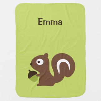 Cobertor De Bebe Design bonito do esquilo do bebê