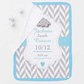 Cobertor De Bebe Design da lembrança do nascimento do elefante dos