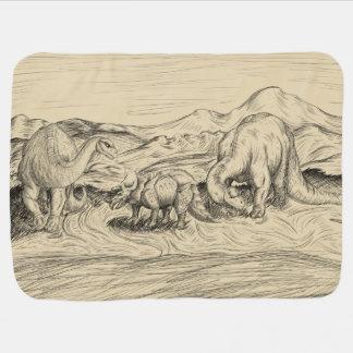 Cobertor De Bebe Dinossauros clássicos