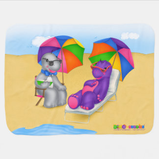 Cobertor De Bebe Divertimento da cobertura do bebê de Dino-Buddies®