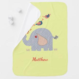Cobertor De Bebe Elefante irrisório bonito do alfabeto