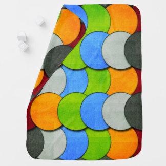 Cobertor De Bebe Empilhado Círculo-Textured por Shirley Taylor