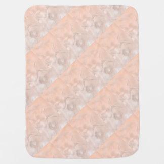 Cobertor De Bebe Esboço da flor de duas tulipas no pêssego