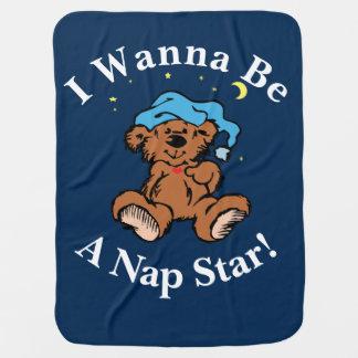 Cobertor De Bebe Eu quero ser um design sonolento do urso do tempo