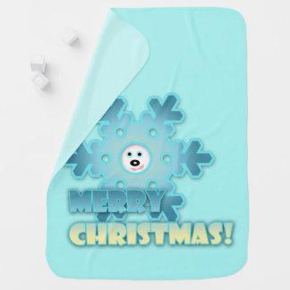 Cobertor De Bebe Floco de neve do Natal