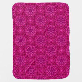 Cobertor De Bebe Flor cor-de-rosa coberturas telhadas do bebê do