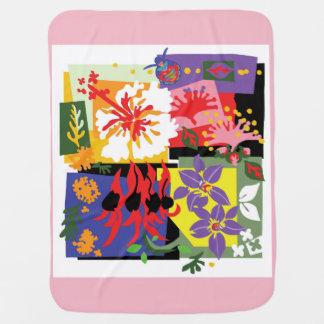 Cobertor De Bebe Floral - cobertura do bebê
