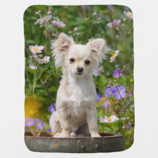 Cobertor De Bebe Foto de creme longhair bonito do animal de