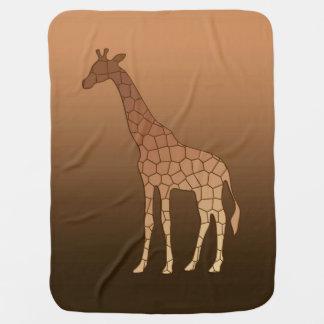 Cobertor De Bebe Girafa, cobre e Brown geométricos modernos