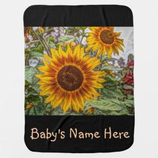 Cobertor De Bebe Girassóis no campo