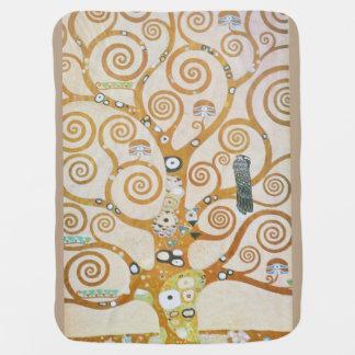 Cobertor De Bebe Gustavo Klimt a árvore da arte Nouveau da vida