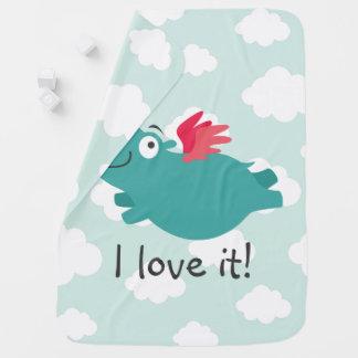 Cobertor De Bebe Ilustração do hipopótamo do vôo