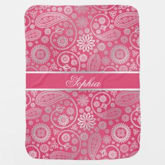 Cobertor De Bebe Ilustração floral na moda elegante do teste padrão