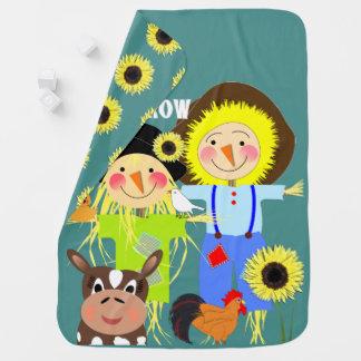 Cobertor De Bebe Imagem irrisório dos amigos bonitos do animal de