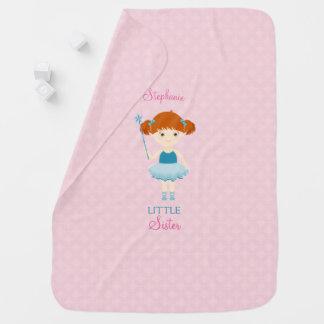 Cobertor De Bebe Irmã mais nova doce da bailarina