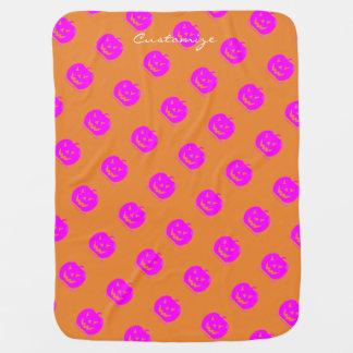Cobertor De Bebe Jack cor-de-rosa o Dia das Bruxas o'lantern