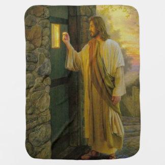Cobertor De Bebe Jesus em seu vintage da porta