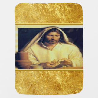 Cobertor De Bebe Jesus que quebra a textura do ouro de matthew
